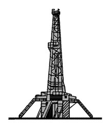 Oil Rig embroidery design