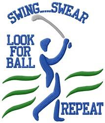 Golf Lesson embroidery design