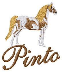 Pinto Horse embroidery design