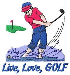 Simple Golf Rule embroidery design