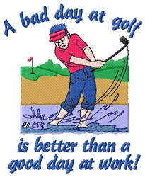 Golf Day embroidery design