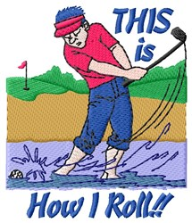 Golf Roll embroidery design