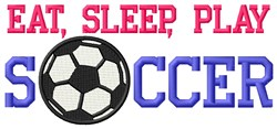 Simple Soccer Life embroidery design