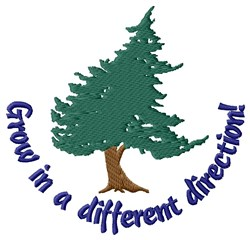 Growth Direction Of Tree embroidery design