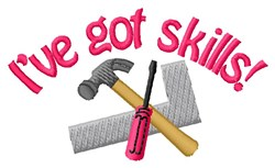 Skills With Tools embroidery design