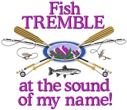 Trembling Fish embroidery design