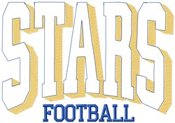 Stars Football League embroidery design