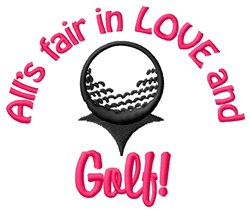 Play Golf With Attitude embroidery design
