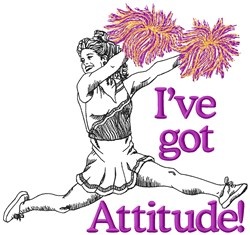 Cheer Girls With Attitude embroidery design