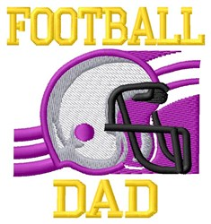 Football Dad embroidery design