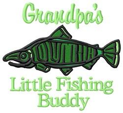 Grandpas Little Fishing Buddy embroidery design