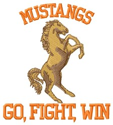 Mustangs Fight embroidery design
