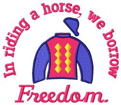 Freedom Ride embroidery design