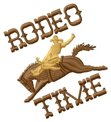 Rodeo Time embroidery design