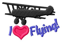 Love Flying Planes embroidery design