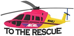 To The Rescue embroidery design
