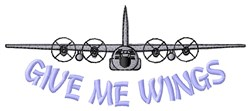 Wings Of Plane embroidery design