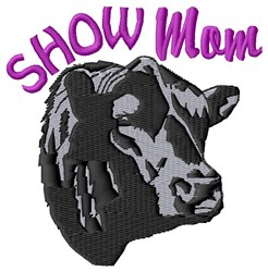Bull Show Mom embroidery design