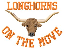 Longhorns Move embroidery design