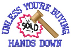 Sold With Hammer Smash embroidery design