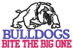 Bulldogs Bite Big One embroidery design