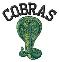 Cobras embroidery design