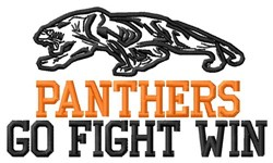 Panthers Go Fight Win embroidery design