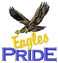 Eagles Pride embroidery design