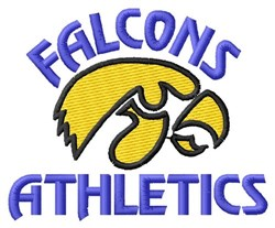 Falcons Athletics embroidery design