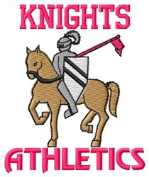 Knights Athletics embroidery design