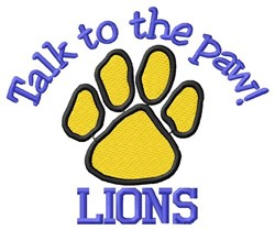 Lions Paw embroidery design