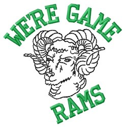 Were Game Rams embroidery design