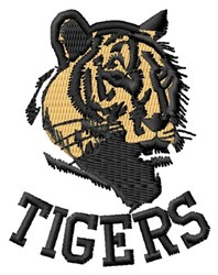 Tigers embroidery design