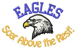 Eagles Soar Above embroidery design