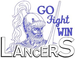 Go Fight Win Lancers embroidery design