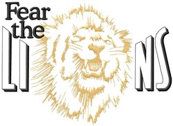 Fear The Lions embroidery design