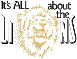 All About The Lions embroidery design
