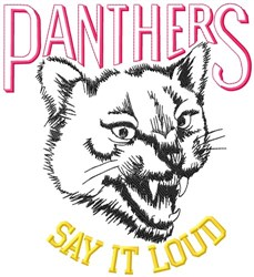 Panthers Say It Loud embroidery design