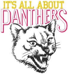 All About Panthers embroidery design