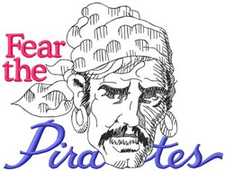 Fear The Pirates embroidery design