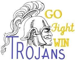 Go Fight Win Trojans embroidery design
