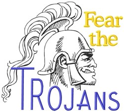 Fear The Trojans embroidery design