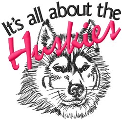 All About The Huskies embroidery design