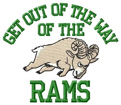 Get Out   Rams Way embroidery design