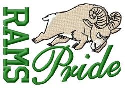 Rams Pride embroidery design