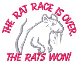 Rat Race embroidery design