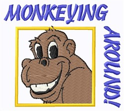 Monkeying Around embroidery design