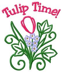 Tulip Time embroidery design