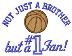Basketball Brother Fan embroidery design
