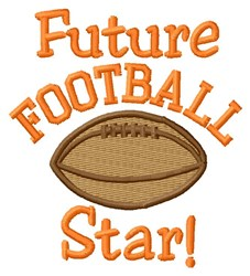 Future Football Star embroidery design